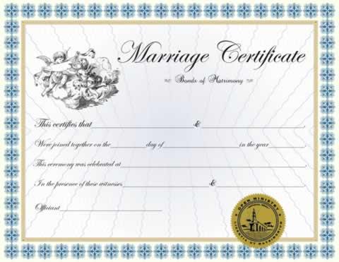 Custom Classic Marriage Certificate