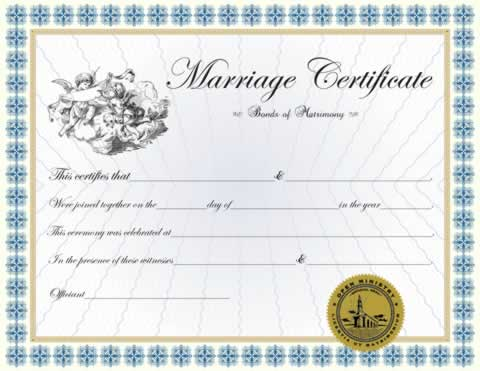certificates classic marriage certificate minister ordainment