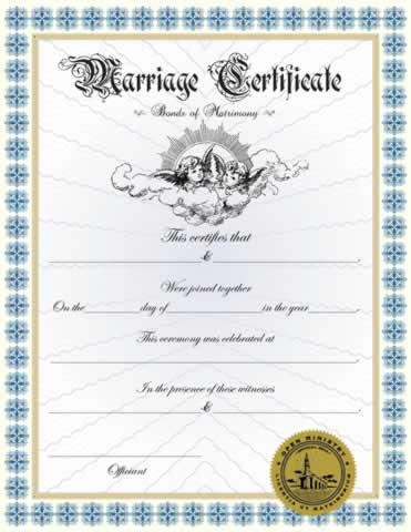 Custom Marriage Certificate III