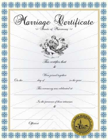Custom Marriage Certificate I