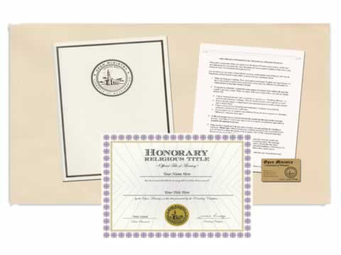 Honorary Title Package
