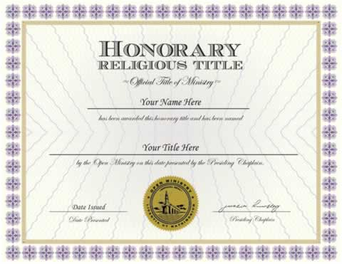 Honorary Title