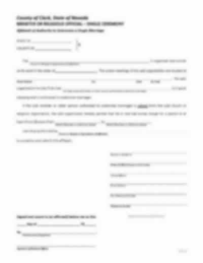 Affidavit of Authority