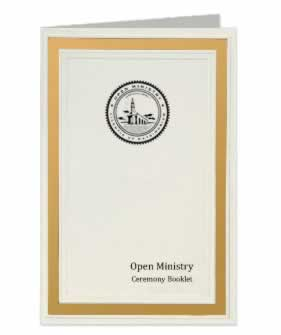 Ceremony Booklet