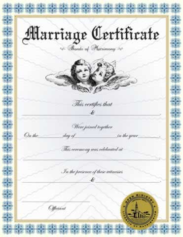 Marriage Certificate 2