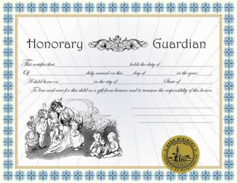 Honorary Guardian Certificiate
