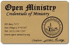 Ministers Wallet Card
