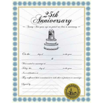 Custom 25th Anniversary Certificate