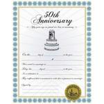 50th Anniversary Certificate