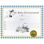 Baby Announcement Certificate