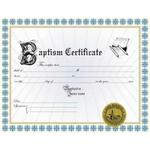 Custom Baptism Certificate II