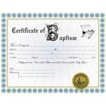 Custom Baptism Certificate I