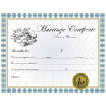 Custom Classic Marriage Certificate