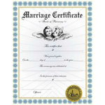 Custom Marriage Certificate II