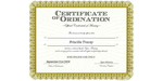 Ordained Minister Priscilla Tracey